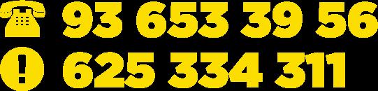 Llámenos al 93 653 39 56 o al 625 334 311